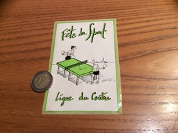 AUTOCOLLANT, Sticker «Fête Du Sport - Ligue Du Centre » (tennis De Table, Ping-pong) - Pegatinas