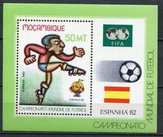 Mosambik Mi# Block 13 Postfrisch MNH - Soccer Espana 82 - Mozambique