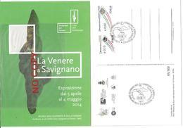 Savignano Sul Panaro 26.4.2014, Esposizione Dell'originale Della Venere Di Savignano. Cartolina Ministero Beni Culturali - Sculture