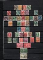 42 TIMBRES CANADA OBLITERES  DE 1870 à 1949     Cote : 29,90€ - Oblitérés