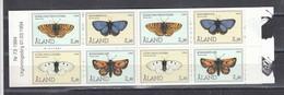 Aland 1994 - Butterflies, Mi-Nr. 82/85 In Booklet, MNH** - Ålandinseln