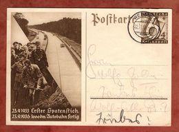 P 263 Ziffer, Erster Spatenstich Autobahn, Weimar Nach Wurzbach 1936 (91142) - Deutschland