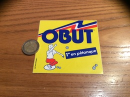 AUTOCOLLANT, Sticker «OBUT - 1er En Pétanque» (boule) Type 1 - Pegatinas