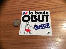 AUTOCOLLANT, Sticker «la Boule OBUT - N°1 Mondial De La Pétanque» - Pegatinas