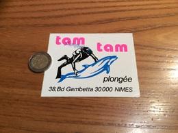 AUTOCOLLANT, Sticker «tam Tam Plongée - NIMES (30) » (dauphin, Plongeur) - Pegatinas