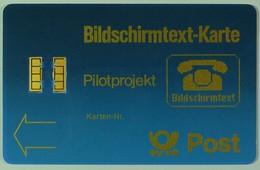 GERMANY - Bildschirmtext-Karte - Pilotprojekt - With Control - 20ex - RRR - T-Series : Tests