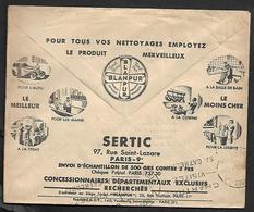Cheque Cover France,Paris,chèques Postaux.CCP.Postes Telegraphes Et Telephones,automobile, Car,cleaning,kitchen,bathroom - Advertising