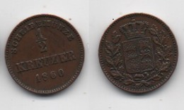 + WURTEMBERG  + 1/2 KREUZER  1860 + TRES TRES BELLE + - [ 1] …-1871 : German States