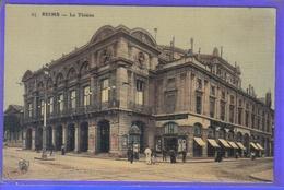 Carte Postale Toilée 51. Reims  Le Théâtre Très Beau Plan - Reims