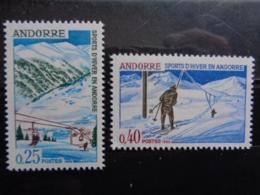 ANDORRE FRANCAIS 1966 Y&T N° 175 & 176 ** - SPORTS D'HIVER EN ADORRE - Nuovi