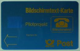 GERMANY - Bildschirmtext-Karte - Pilotprojekt - Specimen - Without Chip Or Control - RR - T-Series : Tests