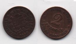 + SAXE - COBURG + 2 PFENNIGE  1856 + TRES TRES BELLE + - [ 1] …-1871 : German States