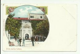 Cattaro, Kotor. Austro - Hungary Porta Marina. Litho Card. - Montenegro