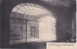 37 - TOURS - CHAMBRE DU COMMERCE - LE PORCHE ET LE DEPART D ESCALIER - AU DOS GRANDE SEMAINE GASTRONOMIQUE 1928 - Tours