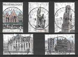 OCB Nr 4285/89 From BL203 Brugge - Bruges Breydel ... - Centrale Stempel - Belgique