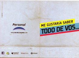 PERSONAL ME GUSTARIA SABER TODO DE VOS ... TENES FACEBOOK? PUBLICIDAD - NTVG. - Publicidad