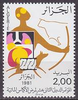 Timbre Neuf ** N° 736(Yvert) Algérie 1981 - Congrès International D'hydatidologie - Algérie (1962-...)