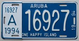 Plaque D'immatriculation - Aruba - - Plaques D'immatriculation