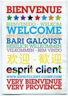 BIENVENUE BIENVENIDO WELKOM WELCOME BIENVENUTO BARI GALOUST PUBLICIDAD - NTVG. - Publicidad