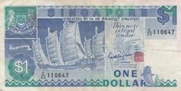 Singapore #18a 1 Dollar Fine+ 1987 Banknote - Singapore
