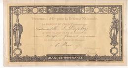 La Banque De France  - Versement D'Or Pour La Defense Nationale - 1917 - Bank & Versicherung