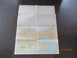 POLAND SWINOUJSCIE  SWINEMÜNDE PORT USEDOM KARSIBOR  , HUGE NAUTICAL MAP OF SOVIET RUSSIAN NAVY , 0 - Cartes Marines
