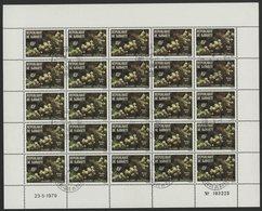 N°507 FEUILLE COMPLETE DE 25 EXEMPLAIRES COTE 7,5 EUROS DU 45 Fr FLEURS ACACIA ET BAICA - Djibouti (1977-...)