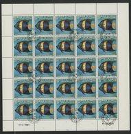 N°527 à 529 SERIE DE 3 FEUILLES COMPLETES DE 25 EXEMPLAIRES COTE 62,50 EUROS DU 25 Fr + 55 Fr + 70 Fr POISSONS - Djibouti (1977-...)