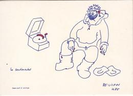 """Paul Emile VICTOR   """" Le Sentimental """" 1985 - Altre Illustrazioni"""