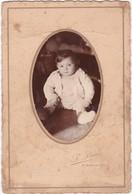 Photo : Enfant :bébé : Portrait En Médaillon ( L. Brun - St- Sorlin - Drome ) - Format 16,5cm X 11cm - Anonyme Personen