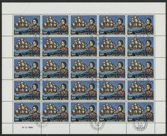 N°537 à 538 SERIE DE 2 FEUILLES COMPLETES DE 25 EXEMPLAIRES COTE 62,50 EUROS DU 100 Fr + 175 Fr AMIRAL NELSON - Djibouti (1977-...)
