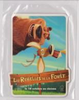 LES REBELLES DE LA FORET - CINEMA, HUMOUR, OURS - Carte 5.2 X 8.5 Sous Pochette Cellulo D'origine (voir Scan) - Publicitaires