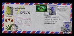 "DORNIER WAL 1924 Avions COLOMBIA Santé Health Médecine Flora Fleurs Aviation BOGOTA ""coccinea"" PALUDISMO Maladies Sp6500 - Maladies"