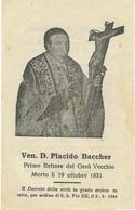 Lotto N. 3 Santini Ven. D. Placido Baccher Primo Rettore Gesù Vecchio Napoli (522-524) - Andachtsbilder