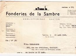 Ancienne Facture 1948 - Belgique