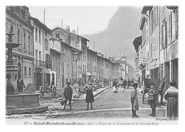 SAINT-RAMBERT-EN-BUGEY - Place De La Fontaine Et La Grande-Rue (reproduction) - France