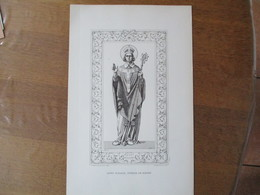 SAINT GODART,  EVÊQUE DE ROUEN   H.DESPOIS DE FOLLEVILLE 1886 BENDERITTER IMP. ROUEN 44cm/28cm - Religion & Esotericism