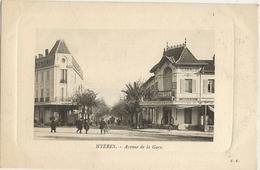 83 -  HYERES  -  Avenue De La Gare Animée -  Hôtel Terminus  Et Café Oriental  169 - Hyeres