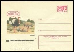 10480 RUSSIA 1975 ENTIER COVER Mint ASKANIA-NOVA RESERVE PRESERVE OSTRICH AUTRUCHE FAUNA BIRD VOGEL OISEAU OISEAUX 263 - Straussen- Und Laufvögel