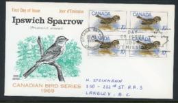 "Canada 1969 FDC-Used ""Ipswich Sparrow"" - 1952-.... Reign Of Elizabeth II"