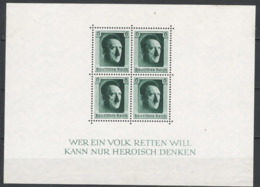 Germania Reich 1937 Unif.BF8 **/MNH VF/F - Blokken