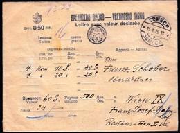 Serbia Kingdom SHS Sombor 1926 / Vrednosno Pismo, Postal Money Letter, Letre Avec Valeur Declaree - Serbien