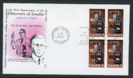 "Canada 1971 VDC ""Discovery Of Insulin"" - 1952-.... Reign Of Elizabeth II"
