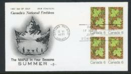 "Canada 1971 FDC ""Maple Leaves"" - 1952-.... Reign Of Elizabeth II"