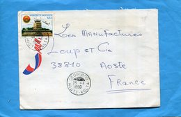 Marcophilie-Haute Volta--lettre>Françe-cad-Dedougou-1980--stamps N°504 Aéroport - Haute-Volta (1958-1984)