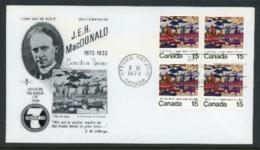 "Canada 1973 FDC ""J.E.H. MacDonald""-Canadian Painter - 1952-.... Reign Of Elizabeth II"