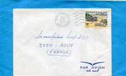 Marcophilie-Haute Volta--lettre>Françe-cad-Bobo Dioulasso-1974--stamps N°262 Jumelage-chalons Sur Marne - Haute-Volta (1958-1984)