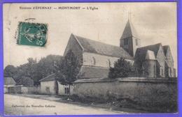 Carte Postale 51. Montmort  Près D'Epernay  L'église  Très Beau Plan - Montmort Lucy