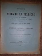 SOCIETE MINES DE LA BELLIERE Maine Et Loire Mine D'or Rapport AG 1929 - Usines & Industries