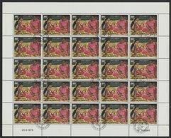 POSTE AERIENNE N° 125 FEUILLE COMPLETE DE 25 EXEMPLAIRES COTE 25 EUROS DU 100 Fr FEMMES DE TAHITI - Djibouti (1977-...)